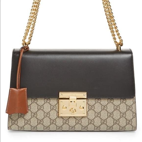 fa000870818 Gucci Handbags - Gucci Medium Padlock Leather Shoulder Bag